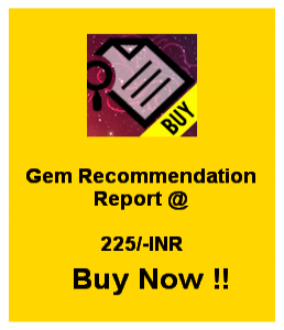 Gem Recommendation Report Buy